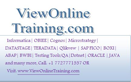 OBIEE Online Training, Oracle BI Online Training, OBIEE 11g Training