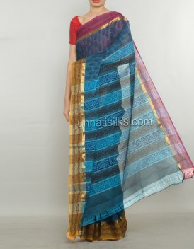 Online shopping for pure handloom cotton saris by unnatisilks