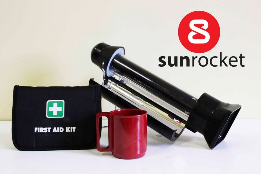 SunRocket Portable Solar Water Heater and Flask