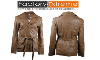 Womens Brown Leather Jacket - FactoryExtreme