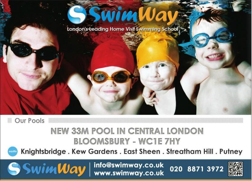 Central London Swimming Lessons in Bloomsbury – WC1E 7HY
