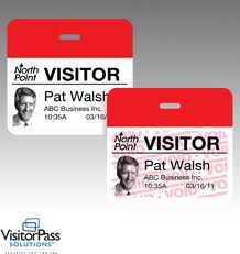Adhesive visitor pass labels