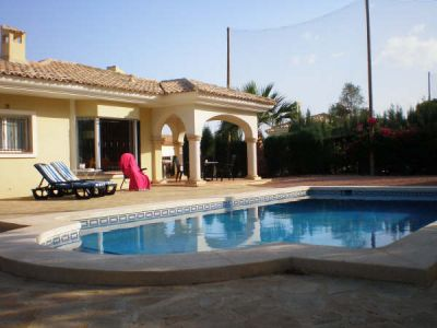 FOR RENT SPAIN COSTA BLANCA BUNGALOW AT GOLFCOURSE PRIVATE POOL