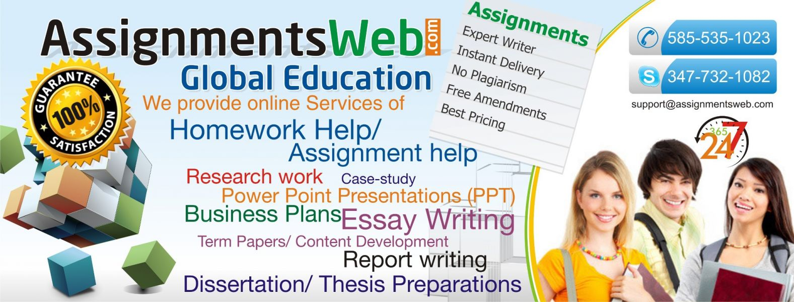 Assignment/Homework help of any Subject -- All Levels !
