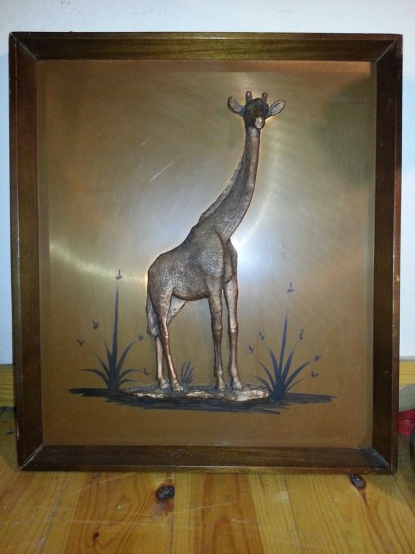 Wall Decoration of Giraffe and Elephant with 3D effect