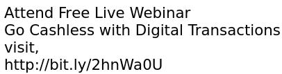 Attend Free Live Webinar: Go Cashless with Digital Transactions