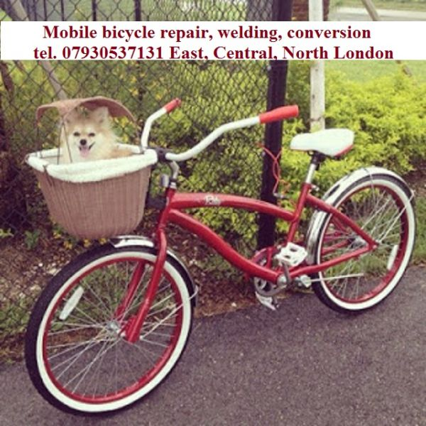 Mobile Bicycle welding,repair, Aluminium-Steel Welding, Conversion. East, Central, North London
