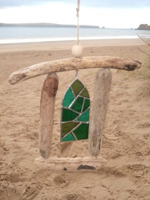 Stained Glass Driftwood Art