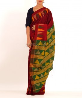 Online shopping for pashmina handloom cotton silk plain sarees by unnatisilks