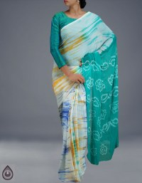 Online shopping for chiffon shibori sarees collection by unnatisilks