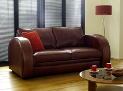 Leather sofa bed Chesterfield