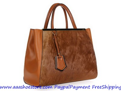 Hot sale Fendi 2Jours Tote Bag Brown Free shipping Paypal payment www.aaashoestore.com