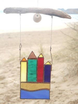 stained glass /driftwood art