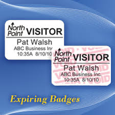 Non Adhesive Visitor Badges