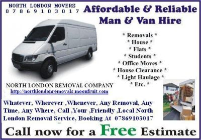 Alexandra Park House Removal Alexandra Park Removal Service North London Local Man & VAN hire
