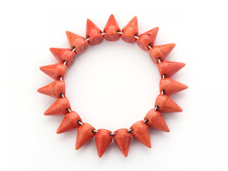 Simple Style Orange Turquoise Bracelet at aypearl.com