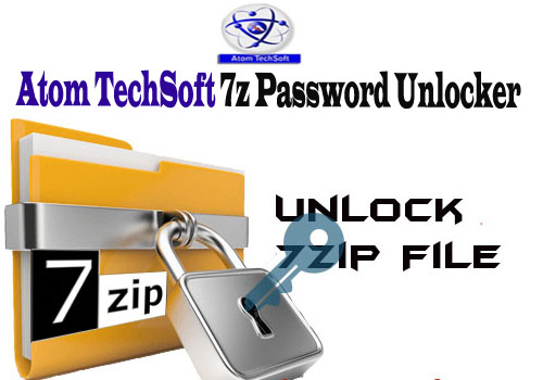 Recover 7z password by Atom Techsoft 7z Password Recovery Tool to unlock 7z password