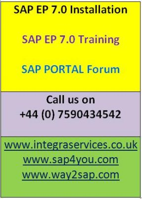 SAP EP Forum | SAP EP Training | SAP EP Installation