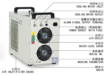 S&A laser chiller CW-5200 with double input and output