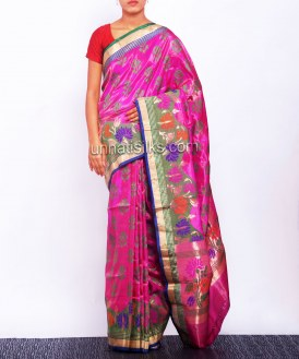 Online shopping for party pink pattu sarees by unnatisilks
