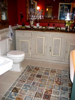 Patchwork Old Spanish Tiles Antique Floor Victorian