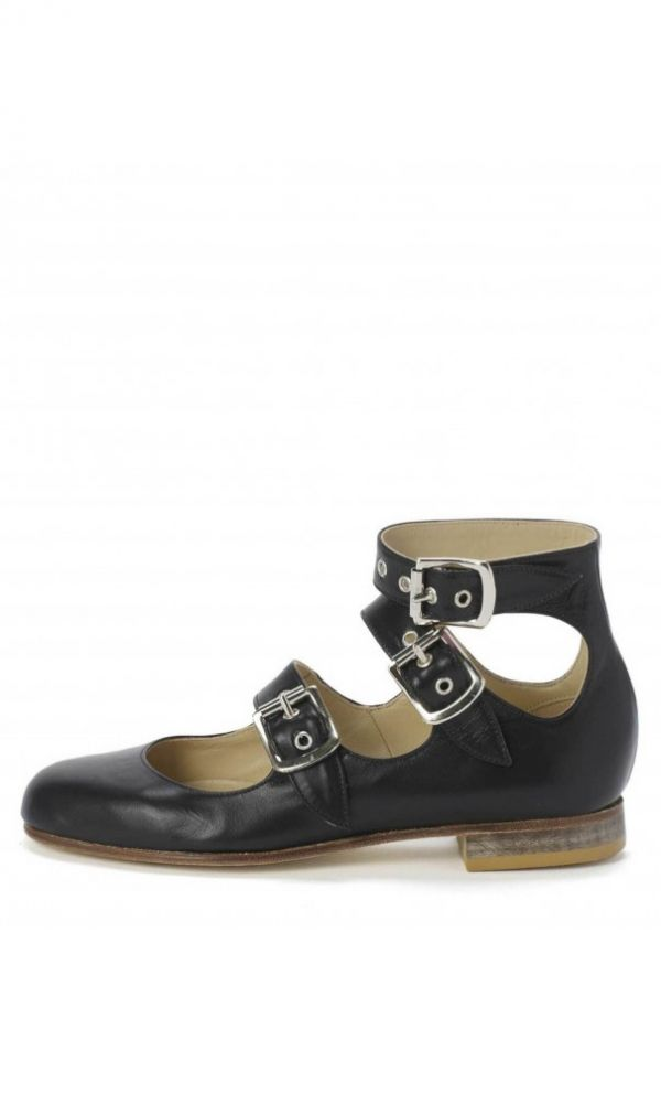 Vivienne Westwood Roman Three Straps Shoes Black