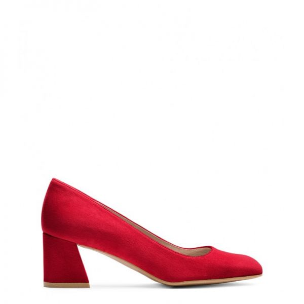 Stuart Weitzman The Marymid Pump Suede Red