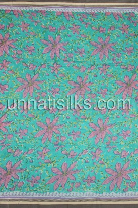Online shopping for block printed sarees by unnatisilks