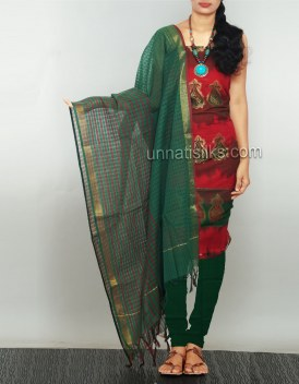 Online shopping for pure handloom kanchi cotton salwar kameez by unnatisilks