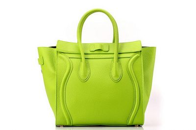 Celine Luggage Mini in Pony Calfskin Light Green Handbag Sale with paypal payment and free shipping.