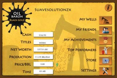 Oil Baron Black Gold Business Game for iphone & ipad