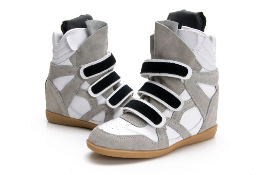 Outlet Isabel Marant Bayley Wedge Sneakers Red