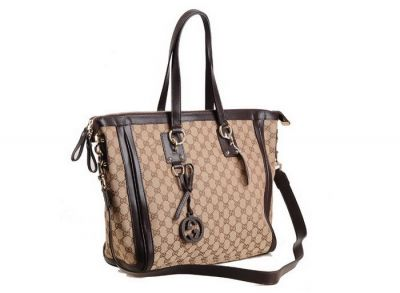 Wholesale cheap fashion lady Gucci Charm Large Top Handle Bag Coffee color with free shipping and PP
