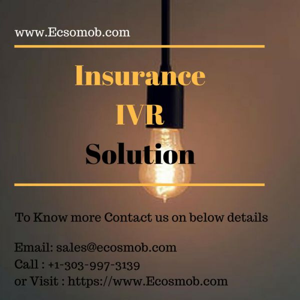 Ecosmob's Pension and Insurance IVR to Reduce Expenses