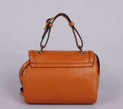 Wholesale Fendi Colorblock Silvana Leather Satchel Orange Free shipping paypal payment www.lelesale.