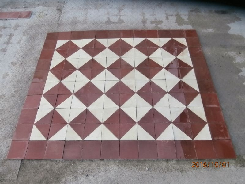 Reclaimed Victorian floor tiles