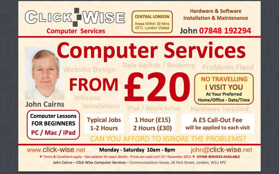 Affordable Windows (7 / 8) / OS X Computer Services From £20