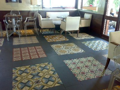 PATCHWORK - OLD SPANISH TILES - ANTIQUE FLOOR - VICTORIAN TILE - PATTERNED TILE /  LUXURYSTYLE.es