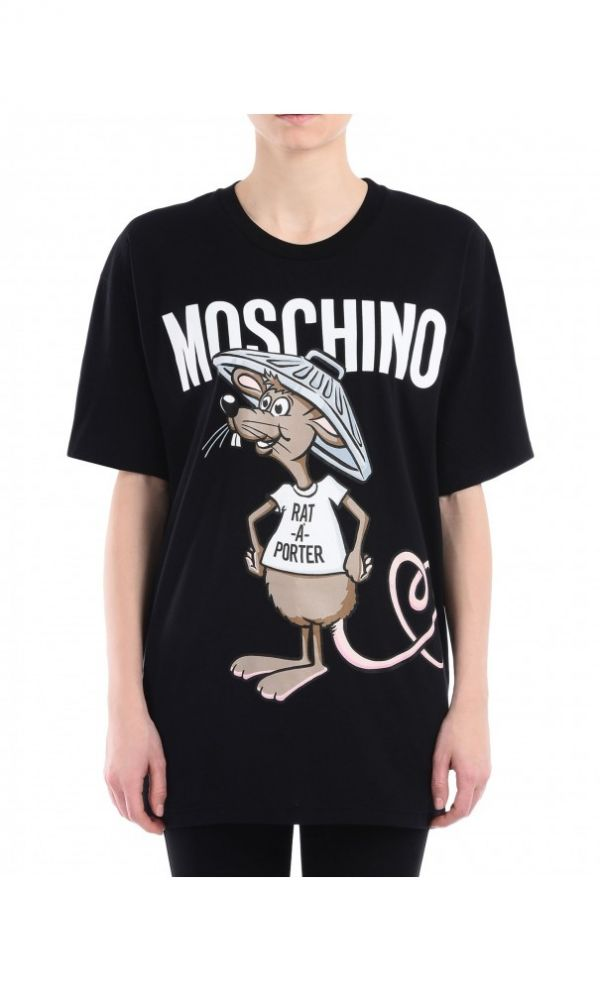 Moschino Rat A Porter Short Short Sleeve T-Shirts Women