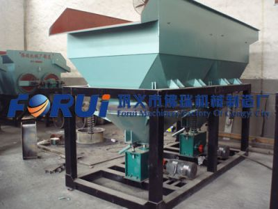 jig separator for ore beneficiation & slag recovery