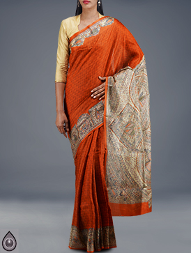 Online shopping for pure tussar silk sarees by unnatisilks