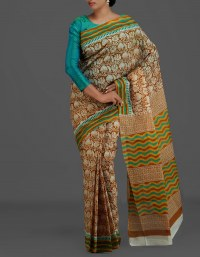 Online shopping for decent pure cotton printed sarees collection by unnatisilks