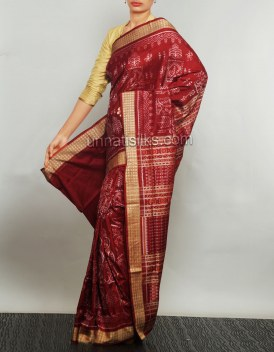 Online shopping for rich maroon color pure silk sarees by unnatisilks