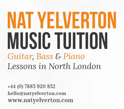 Guitar Lessons, Bass Lessons, Piano Lessons in London