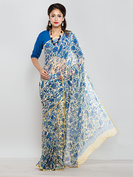 Online shopping for designer chiffon printed sarees by unnatisilks