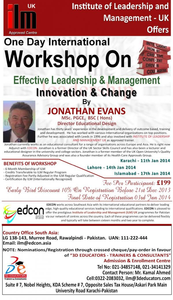 International Workshop on Effective Leadership & Management