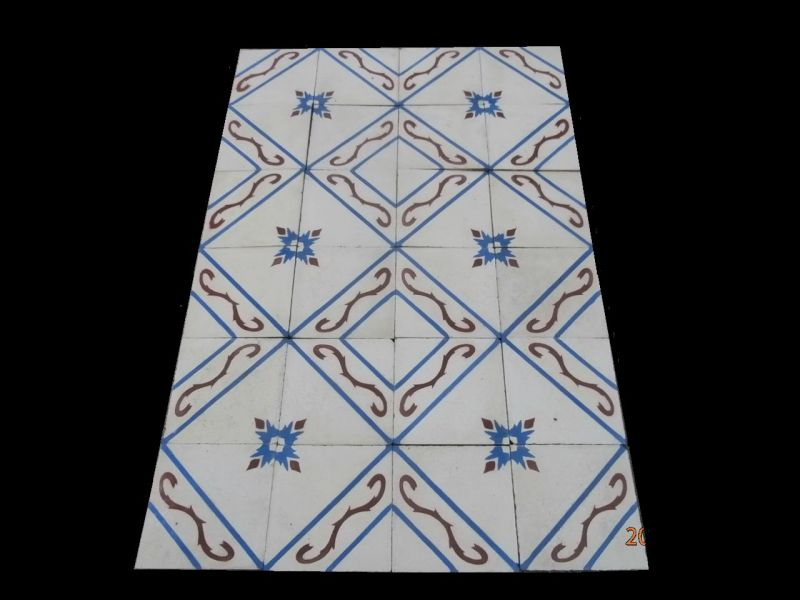 Reclaimed spanish cement patterned tiles