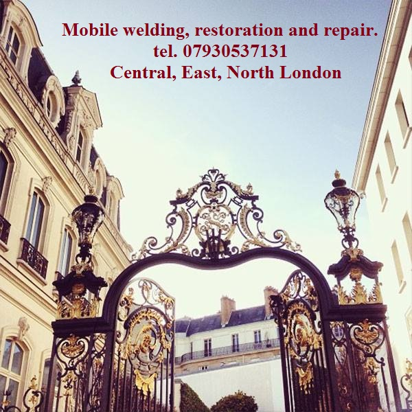 Mobile welding, restoration, repair. Welder, engineer. Central London, East London, North London