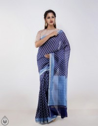Online shopping for chanderi floral printed cotton silk sarees by unnatisilks