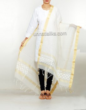 Online shopping for pure banarasi jute net dupatta by unnatisilks